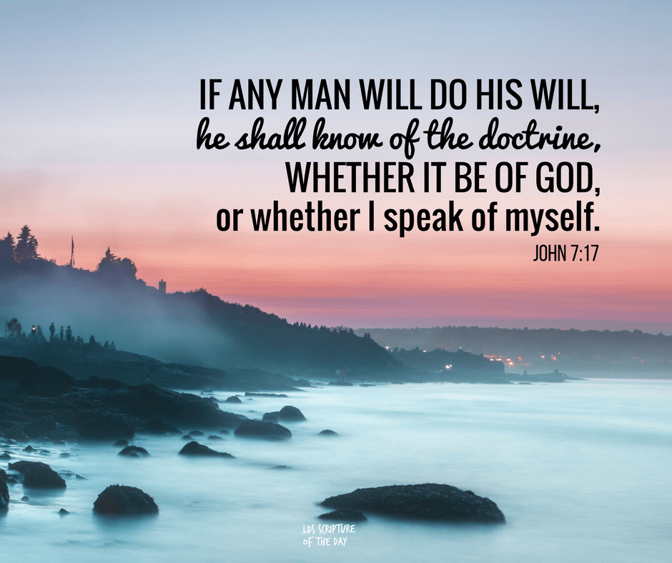 """Thoughts for April 15th: """"IF ANYONE'S WILL IS TO DO GOD'S WILL"""""""