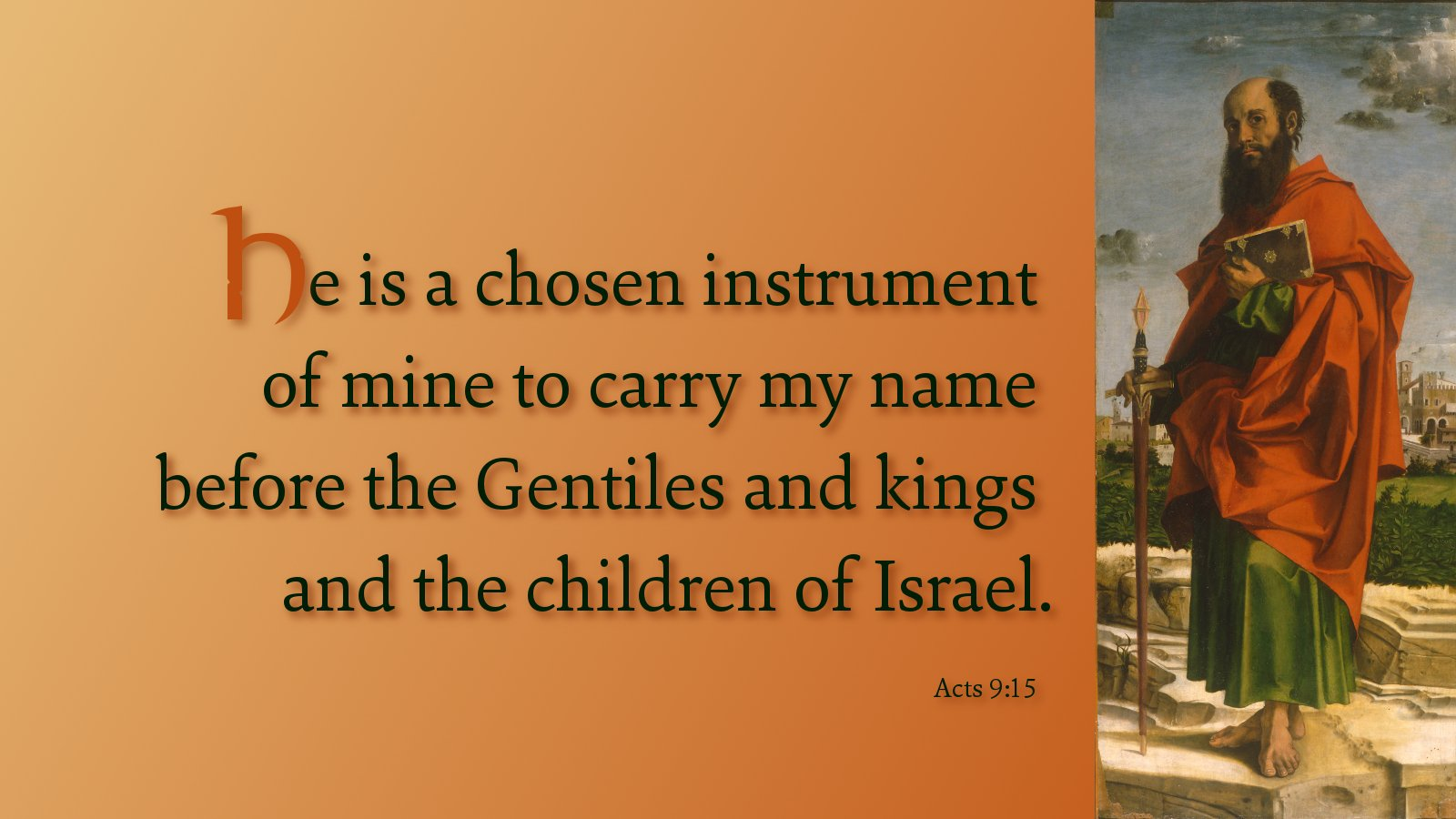 """Thoughts for May 1st. """"TO CARRY MY NAME"""""""