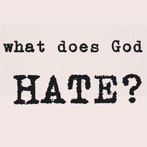 7 things which God hates