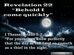 Behold I come quickly: Revelation 22