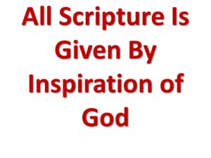 The Bible 'IS' the Inspired Word Of God - Video Post