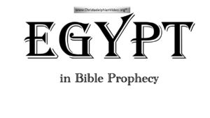 Egypt in Bible Prophecy: Things about the Bible you didn't know you didn't know!