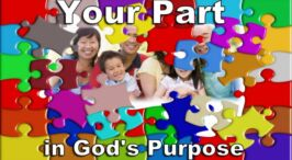 Your part in God's purpose with the Earth!