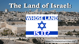 The Land of Israel Whose Land is it? Video post