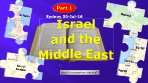 Israel and the Middle East Dilema Sydney Prophecy Day 2016 - Video post