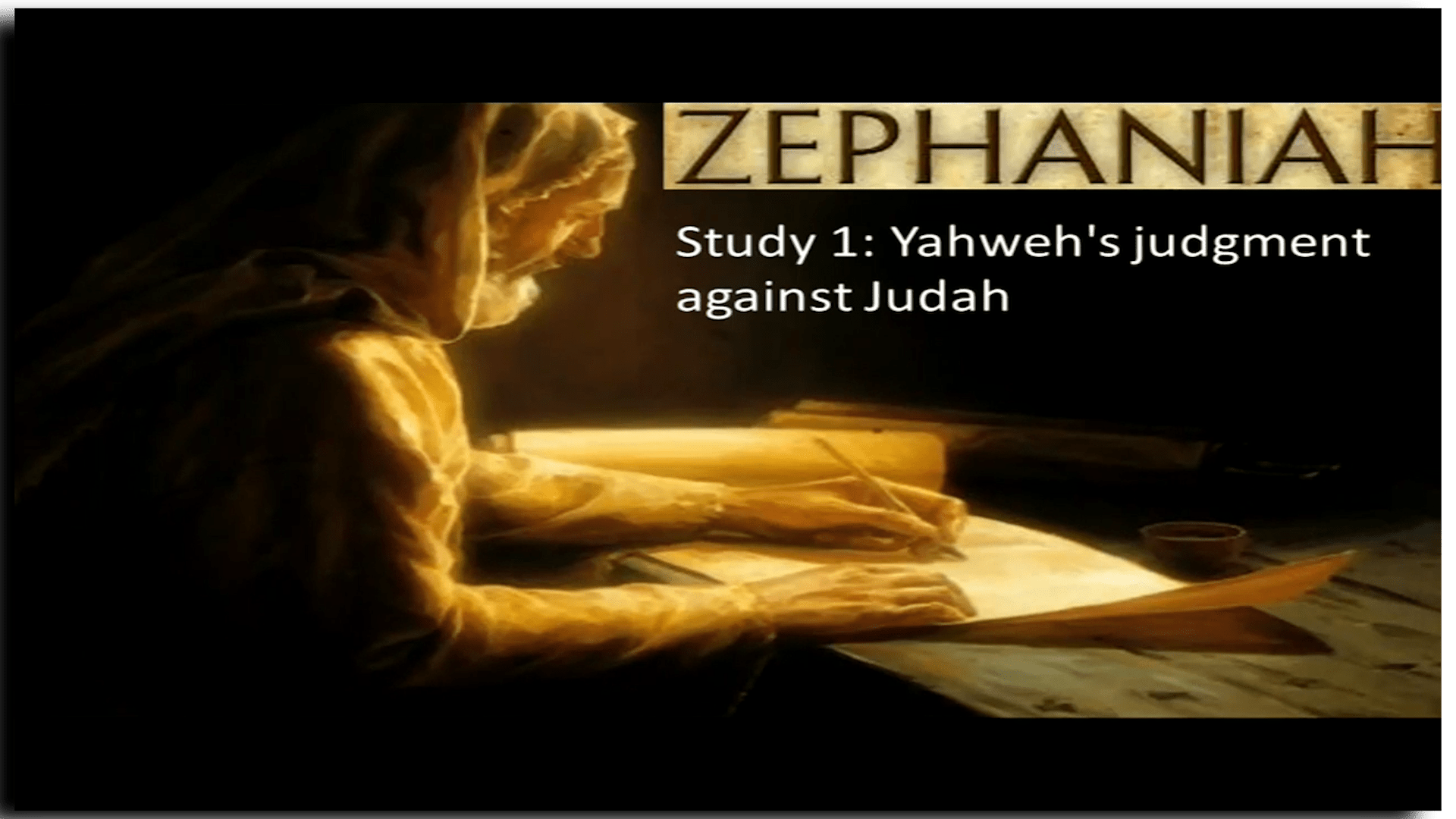 Zephaniah 3 part Video Study Series - Cumberland Ecclesia Austrailia