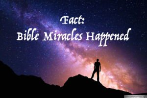 FACT:  Bible Miracles Happened Video Post
