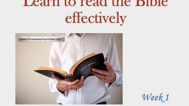 Learn to read the Bible Effectively Bible Video Seminar Series