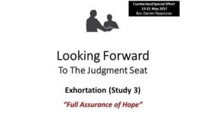 Looking Forward to the Judgement Seat Study Series: Part 3  - Video post