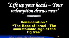 Signs of the Times - Consideration 1: 'The Hope of Israel the unmistakable sign of the fig tree'