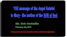 THE message of the Angel Gabriel to Mary the mother of the SON of God - Video Post