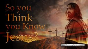 So you think you know Jesus? Video post
