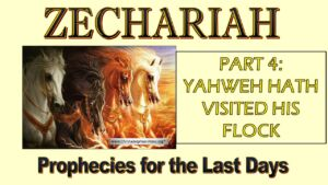 Zechariah Prophecies for the last Days Study 4: Yahweh hath visited his flock