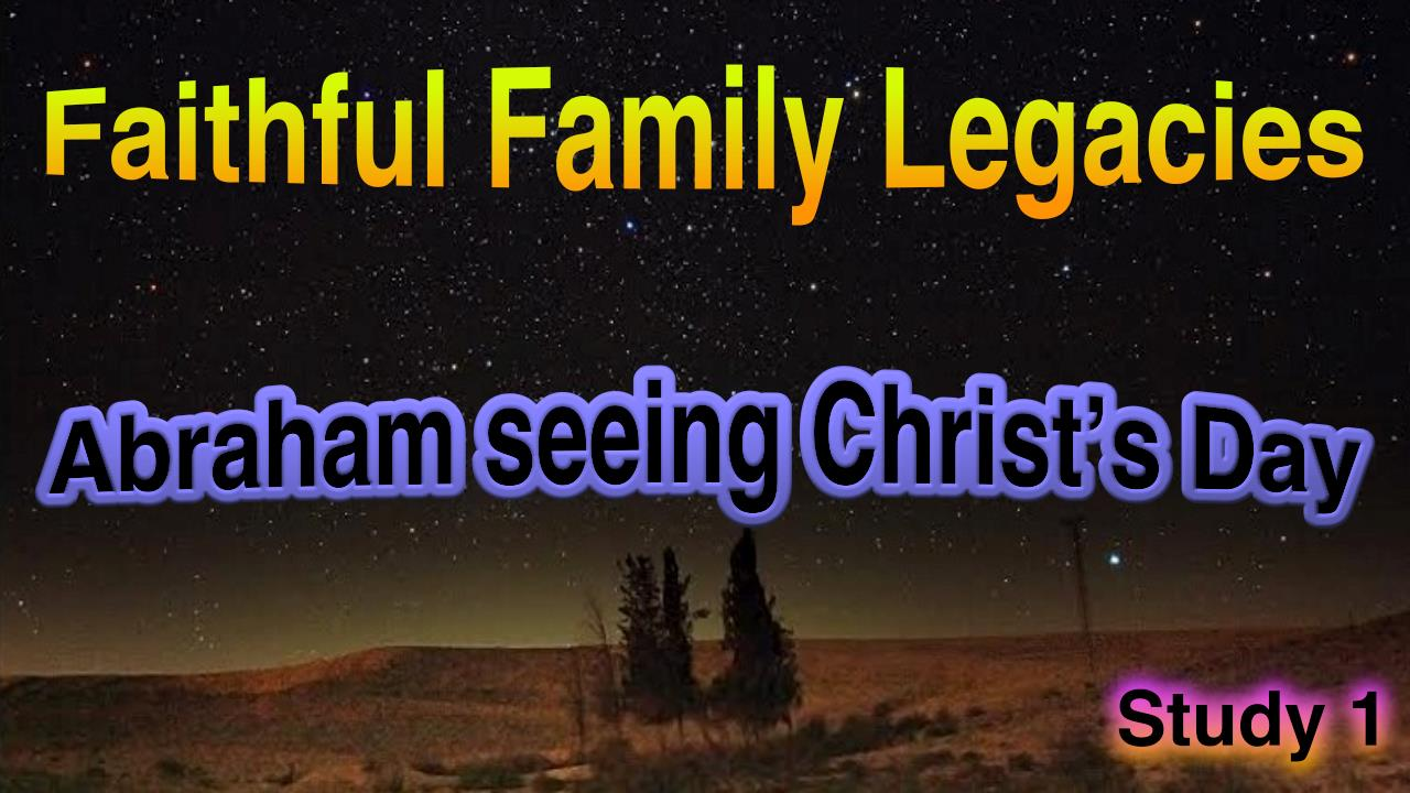 Faithful Family Legacies - J.McCann 5 pt Video Bible Study Series