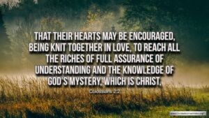 "Thought for November 14th.""THE RICHES OF FULL ASSURANCE'"""