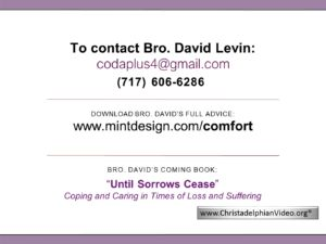 .pdf Docs relating to God Of All Comfort Series & contact details for Bro David Levin