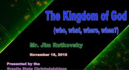 The Kingdom of God Who, What, Where, When Video Post