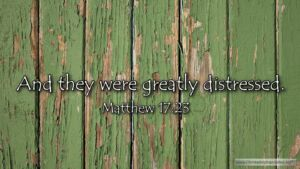 "Thought for January 15th. ""AND THEY WERE GREATLY DISTRESSED"""