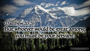 "Thought for January 18th. ""WHOEVER WOULD BE GREAT …"""