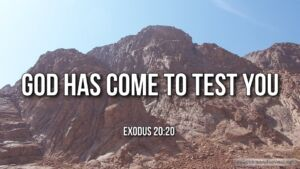 "Thought for February 10th. ""GOD HAS COME TO TEST YOU, THAT …"""