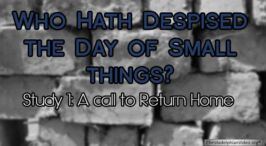 Who hath despised the day of small things? (6 Videos)