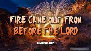 """Thought for March 4th. """"FIRE CAME OUT FROM BEFORE THE LORD"""""""