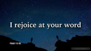 "Thought for March 12th. ""I REJOICE AT YOUR WORD"""