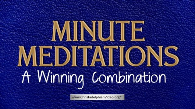 Minute Meditation -A Winning Combination