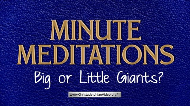 Minute Meditation -Big or Little Giants?