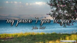 "Thought for April 20th. ""MY PEACE I GIVE TO YOU"""