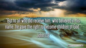 "Thought for April 10th. ""BUT TO ALL WHO DID RECEIVE HIM … """