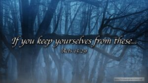 "Thought for April 5th. ""IF YOU KEEP YOURSELF FROM THESE …"""