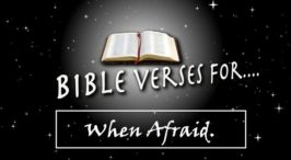 Bible Verses for.... when Afraid