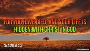 "Thought for May 16th. ""FOR YOU HAVE DIED AND YOUR LIFE IS HIDDEN.."""