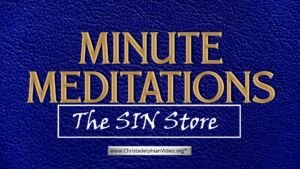 Minute Meditation - The Sin Store by R J. Lloyd