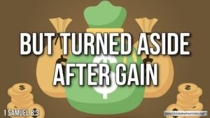 "Thought for June 27th. "" ... BUT TURNED ASIDE AFTER GAIN"""