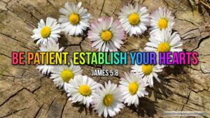 "Thought for June 10th. ""BE PATIENT, ESTABLISH YOUR HEART"""