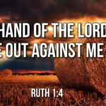 "Thought for June 20th. ""THE HAND OF THE LORD HAS GONE OUT AGAINST ME"""
