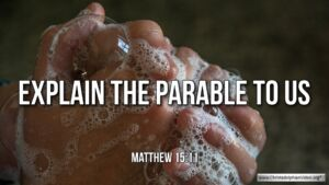 "Thought for July 14th. ""EXPLAIN THE PARABLE TO US"""
