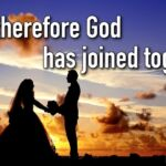 "Thought for July 18th. ""WHAT THEREFORE GOD HAS JOINED TOGETHER"""
