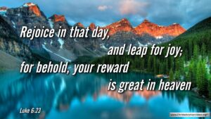 """Thought for September 14th. """"YOUR REWARD IS GREAT IN HEAVEN"""""""