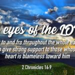 "Thought for October 22nd. ""THE EYES OF THE LORD"""