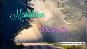 Stop & Think Meditations: Take a moment to pray -3x3x3