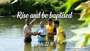 "Thought for November 8th. ""RISE AND BE BAPTISED"""