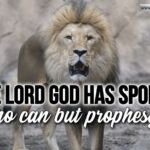 """Thought for November 23rd. """"THE LORD GOD HAS SPOKEN WHO CAN BUT …"""""""