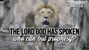 """Thought for November 23rd. """"THE LORD GOD HAS SPOKEN WHO CAN BUT ..."""""""
