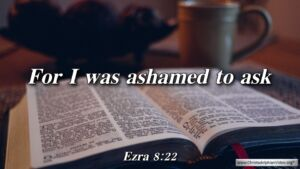 "Thought for November 12. ""I WAS ASHAMED TO ASK"