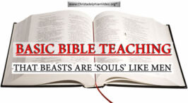 Basic Bible Teaching: 1 Beasts are Souls like Men'