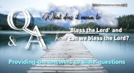 How can we Bless God?