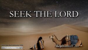 """Thought for December 16th. """"SEEK THE LORD"""""""